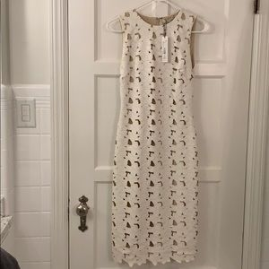 Alice and Olivia NWT white faux leather